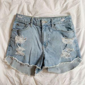 CarMar Light Wash High-Waisted Shorts